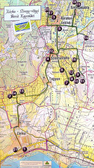 balaton zánka térkép Térkép | Zánka Nivegy völgyi Borút balaton zánka térkép